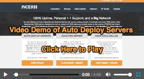 Auto deploy servers video demo play link